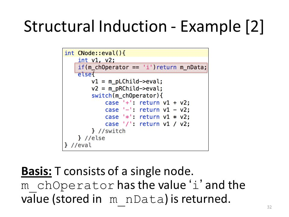 Structural Induction - Example [2]